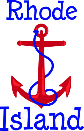 mooring anchor: This anchor is the perfect design for your nautical theme.