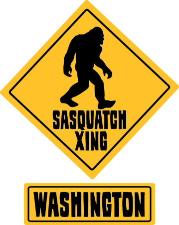 keep in: When traveling and hiking in Washington, keep your eyes open for Sasquatch.