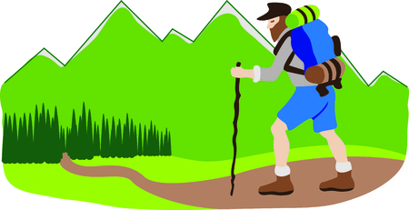 West Virginia is a beautiful place to go hiking.  This image will be perfect for your design. Illustration