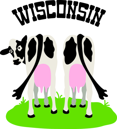 Wisconsin is known for dairy.  This image will be perfect for your design.