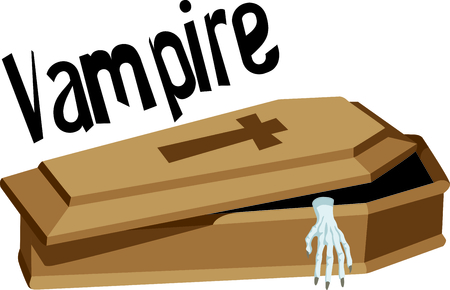 The Halloween coffin is a perfect image for your fall design.