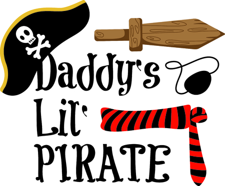 A los niños traje perfecto de Halloween para vestirse como un pirata. Obtener esta imagen para su próximo diseño. Foto de archivo - 43783463