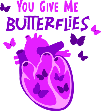 mariposa: Send your Valentine this cute design for Valentines Day!  Its sure to bring a smile!