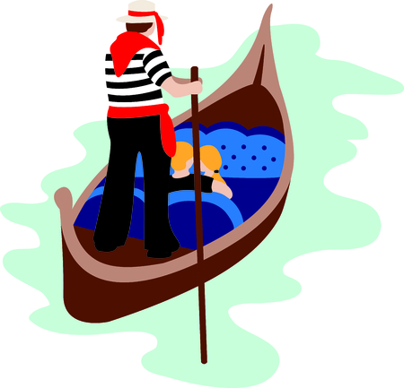 gondolier: Send your Valentine this cute design for Valentines Day!  Its sure to bring a smile!