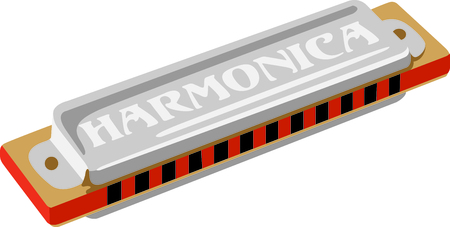 chromatic: A harmonics makes a beautiful sound when played.  Add this image to your next design. Illustration