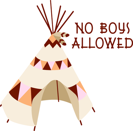 A teepee is the perfect design for your Southwest theme.  Get this image for your next design.