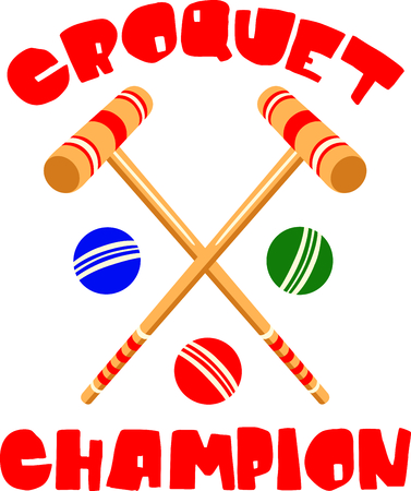 outdoor activity: The game of croquet is a fun outdoor activity.  Use this image for your next design.