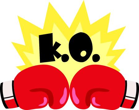 스포츠를 좋아하는 특별한 권투 선수를 생각 나게하십시오. 권투 팀을위한 완벽한!