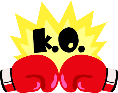 ko: Remind your special boxer that loves the sport.  Perfect for the boxing team! Illustration