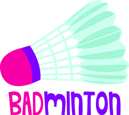Remind your special player that loves the game.  Perfect for the badminton team!