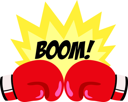 Ricordate ai vostri boxer speciale che ama lo sport. Perfetto per la squadra di boxe! Archivio Fotografico - 43785698