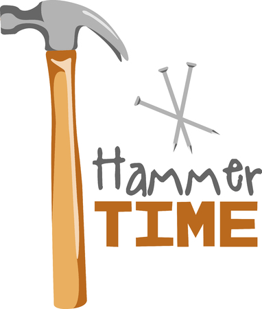 knocker: This hammer image is the perfect image for your next design.  Perfect for the handyman working on the honeydo list. Illustration