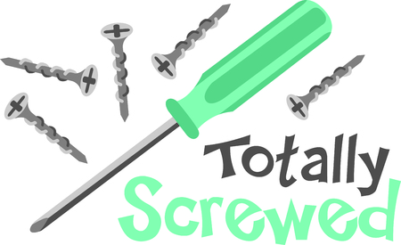 slotted: This screwdriver image is the perfect image for your next design.  Perfect for the handyman working on the honeydo list. Illustration