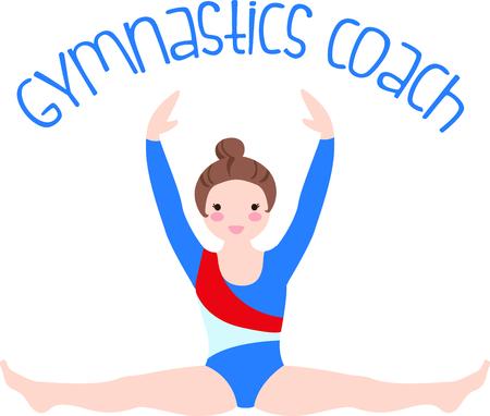 スポーツを愛するあなたの特別な体操選手を思い出させます。 チームに最適!