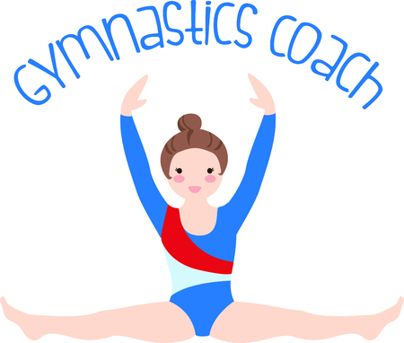 remind: Remind your special gymnast that loves the sport.  Perfect for the team! Illustration