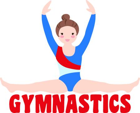 스포츠를 좋아하는 당신의 특별한 체조 선수를 생각 나게하십시오. 팀에 딱! 스톡 콘텐츠 - 43785836