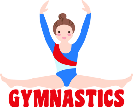 Remind your special gymnast that loves the sport.  Perfect for the team! Ilustrace