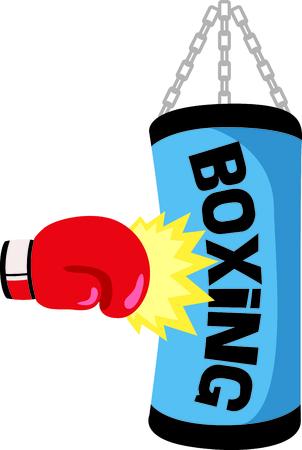 Ricordate ai vostri boxer speciale che ama lo sport. Perfetto per la squadra di boxe! Archivio Fotografico - 43785841
