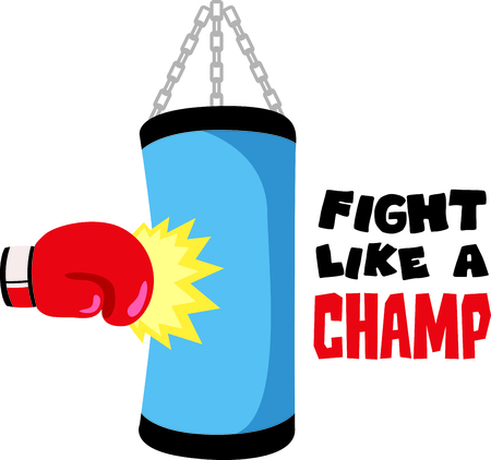 Remind your special boxer that loves the sport.  Perfect for the boxing team! Illustration