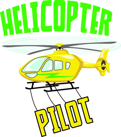 br: Its the perfect advertisement for your helicopter business. Illustration