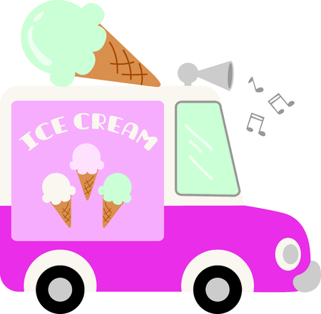 Go retro with this ice cream truck.  Perfect for your next design. 向量圖像