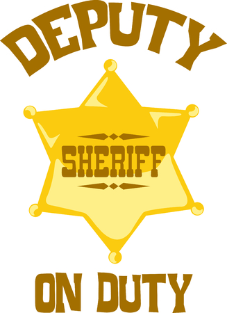 sheriffs: You entrust your safety to sheriffs each day.  This design is perfect for thanking them! They will love it! Illustration