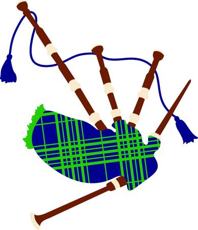 gaita: Celebre su herencia con este dise�o de la gaita escocesa Vectores