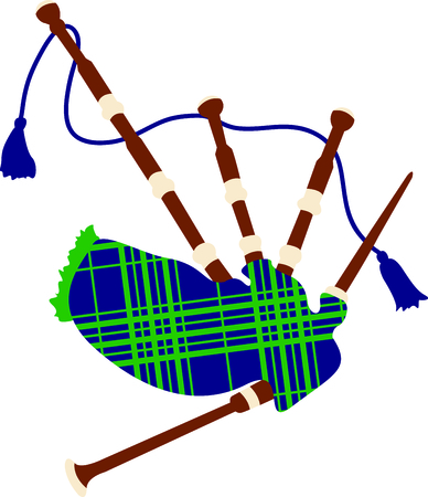 Celebrate your heritage with this Scottish bagpipes design