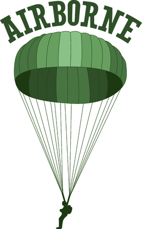 paratrooper: Let them know you are proud of your paratrooper.  Show support for our troops with this special design.
