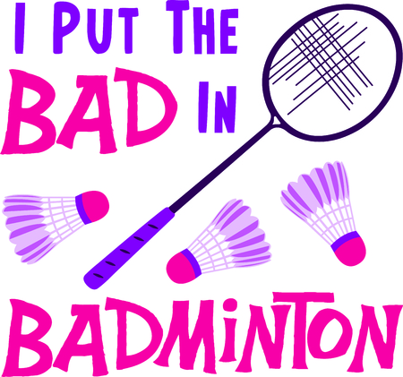 battledore: The game of badminton is a fun outdoor activity.  Use this image for your next design. Illustration