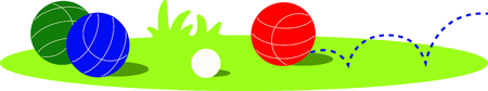 bocce ball: The game of bocce is a fun outdoor activity.  Use this image for your next design. Illustration
