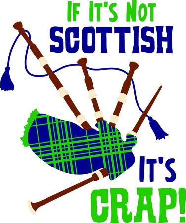 gaita: Celebre su herencia con este diseño de la gaita escocesa Vectores