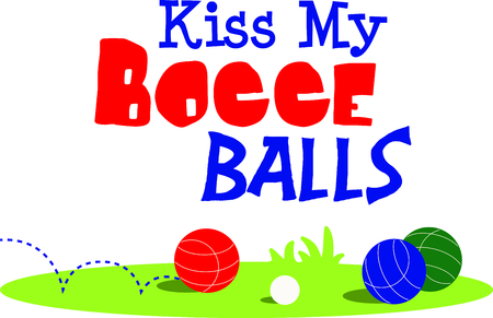 The game of bocce is a fun outdoor activity.  Use this image for your next design. 向量圖像