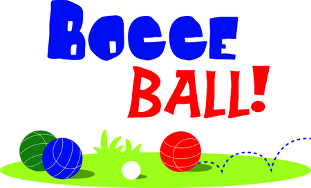 The game of bocce is a fun outdoor activity.  Use this image for your next design. Ilustração