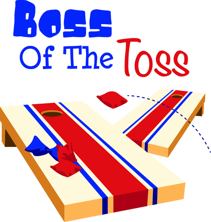 The game of toss is a fun outdoor activity.  Use this image for your next design.