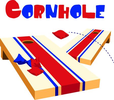 Das Spiel der Wurf ist eine unterhaltsame Aktivität im Freien. Verwenden Sie dieses Bild für Ihren Entwurf. Standard-Bild - 43786103