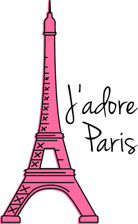 Remember that family trip to Paris with this image.  Perfect for your next design. Ilustracja
