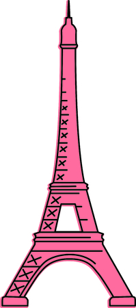 family trip: Remember that family trip to Paris with this image.  Perfect for your next design. Illustration