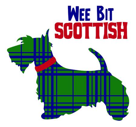 이 귀여운 스코틀랜드 테리어를 표시하여 유산을 축하합니다.
