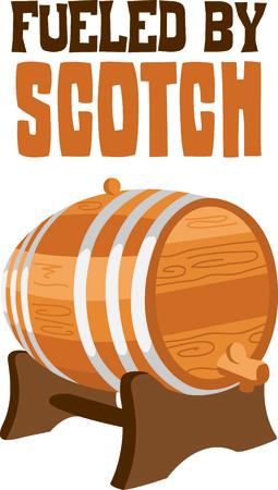 Vier uw erfenis door het weergeven van deze whisky vat.