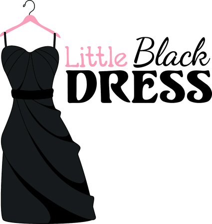 Image result for little black dress clipart