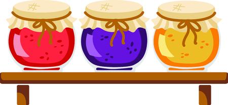 Homemade cooking jam illustration Stok Fotoğraf - 44057901