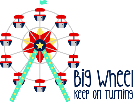 Get this circus ferris wheel image for your next design.