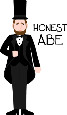 honest abe: Celebrate presidents day with this special image of Abe Lincoln.