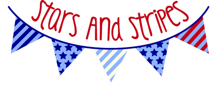 flag banner: Hip graphic of stars and stripes banner.  Cool for 4th of July celebrations! Illustration