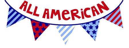 Grafica hip di banner a stelle e strisce. Fantastico per le celebrazioni del 4 luglio! Archivio Fotografico - 43784206