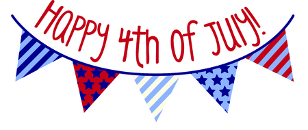 Hip graphic of stars and stripes banner.  Cool for 4th of July celebrations! 矢量图像