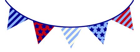 Grafica Hip di stelle e strisce banner. Cool for celebrazioni del 4 luglio! Archivio Fotografico - 43784209