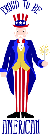 personification: This cute Uncle Sam image is perfect for 4th of July celebrations!