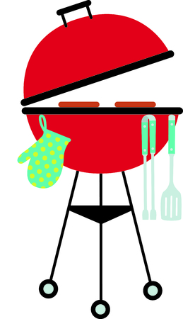 family picnic: Cookin barbeque on a nice summer day enjoying the family picnic! Time for some kabobs.  Perfect to add to your next tailgating party!